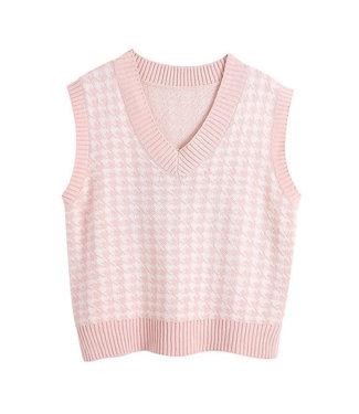 Pied de Poule Spencer / Light Pink