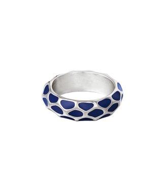 Silver Girafe Pattern Ring