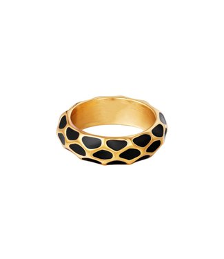 Gold Girafe Pattern Ring