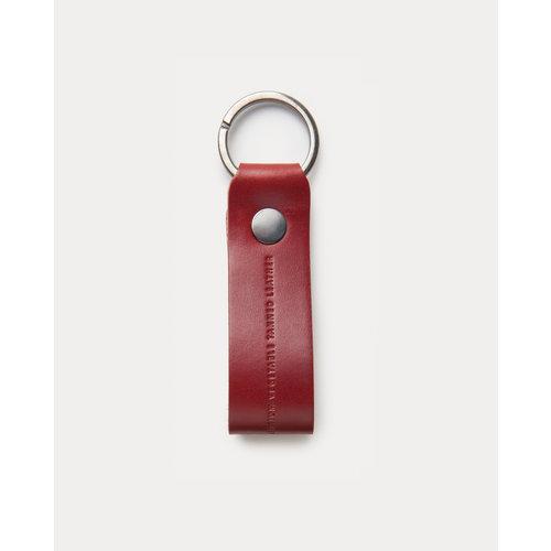 Café Leather Key Chain Berry