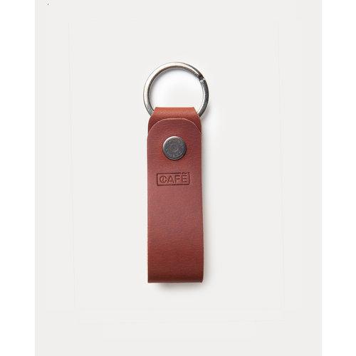Café Leather Key Chain Roasted