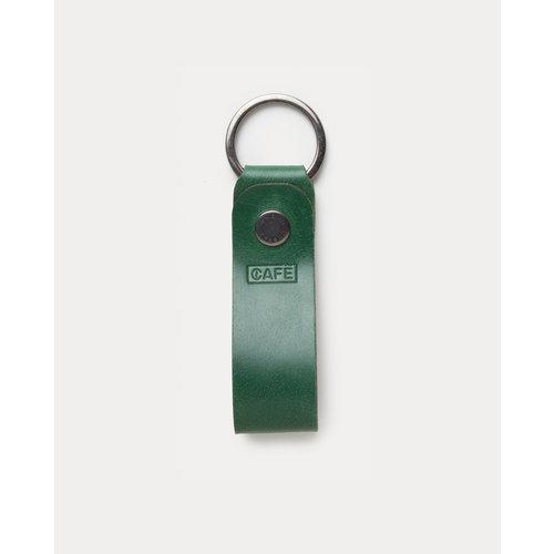 Café Leather Key Chain Greenery