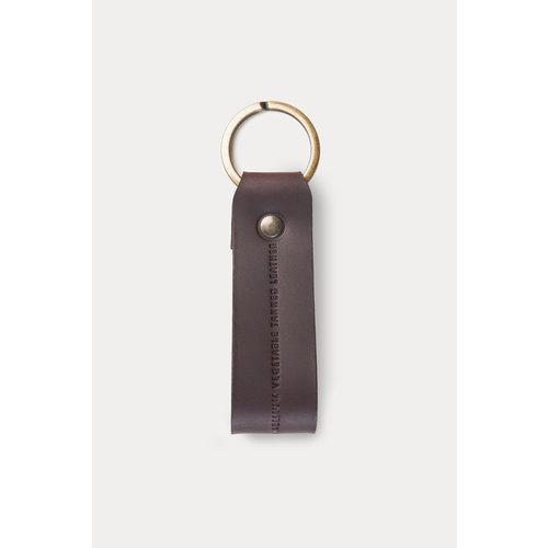 Café Leather Key Chain Black Coffee