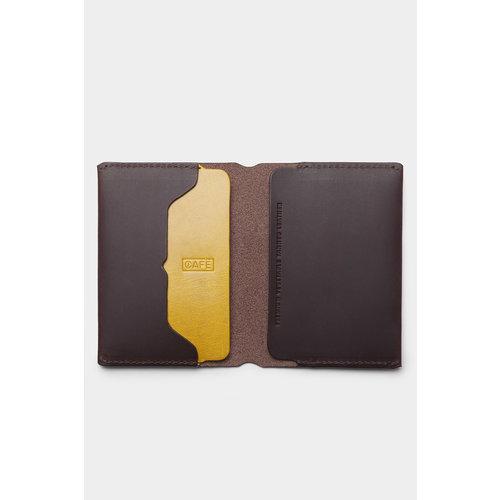 Café Leather Tolima Travel Wallet Black Coffee