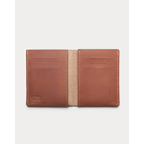 Café Leather Jamaica Ultra Slim Wallet Roasted