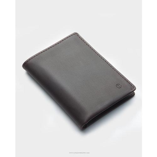 Café Leather Costa Rica Slim Wallet Black Coffee