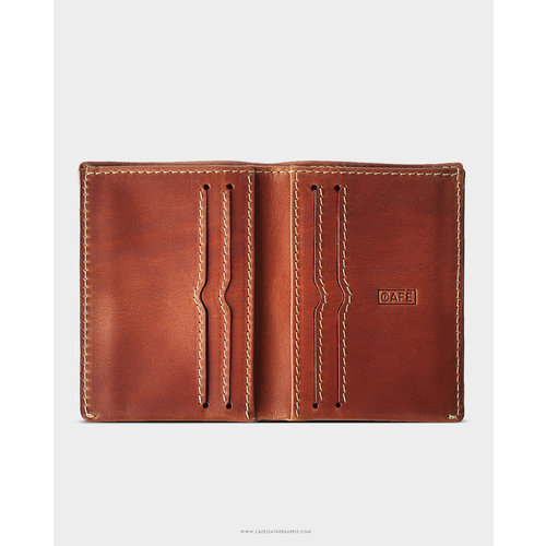 Café Leather Costa Rica Slim Wallet Roasted