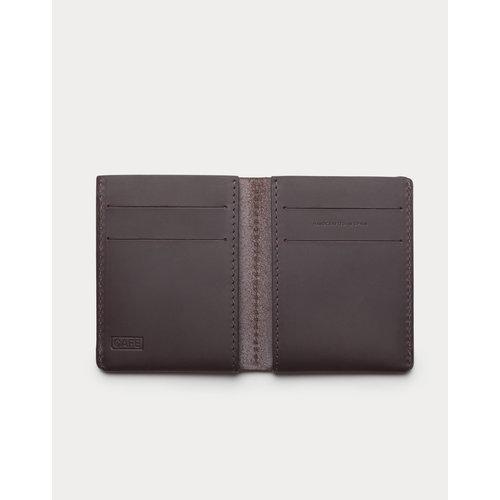 Café Leather Jamaica Ultra Slim Wallet Black Coffee