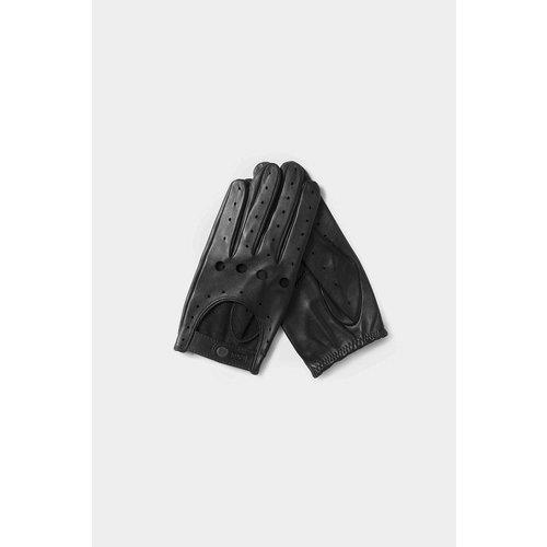 Café Leather Triton Driving Gloves Black