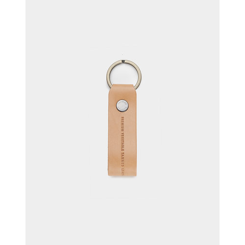 Café Leather Key Chain Natural