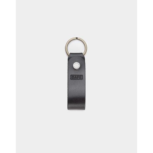 Café Leather Key Chain Black