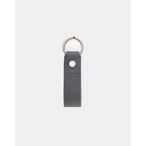 Café Leather Key Chain Anthracite