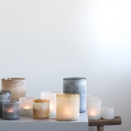 Tell Me More Frost candleholder Amber S