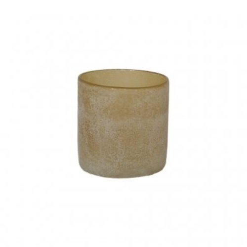 Tell Me More Frost candleholder Amber M