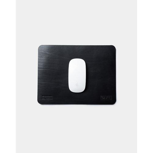Café Leather Leather Mouse Pad Black