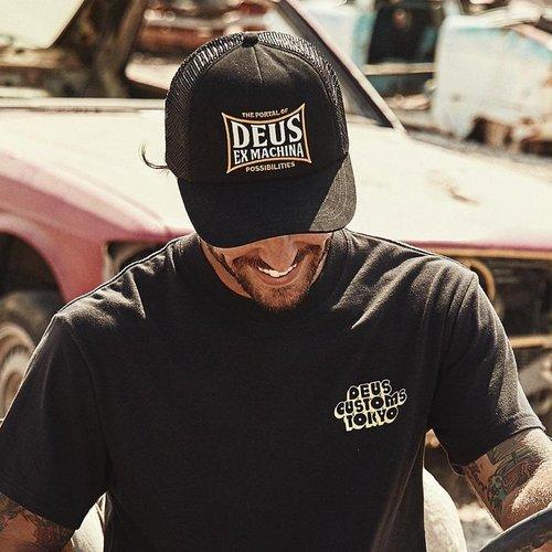 Deus Ex Machina Twinbox Trucker Black