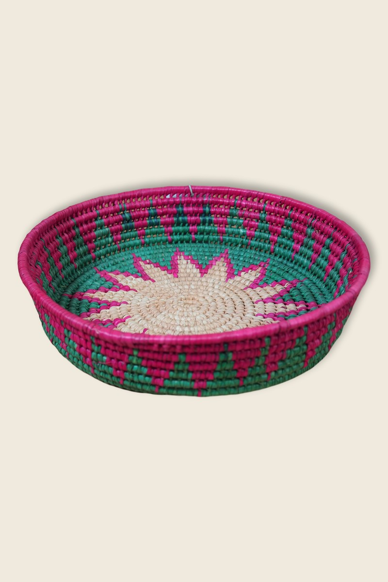Artisanat Mexique 20cm Diameter Mexican Basket