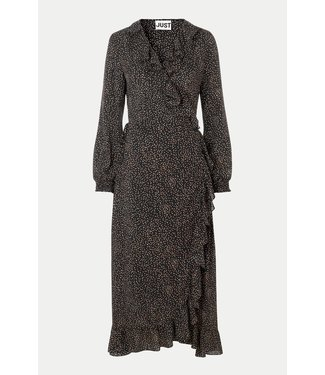 Just Female Imogene maxi wrap dress, Mini dot