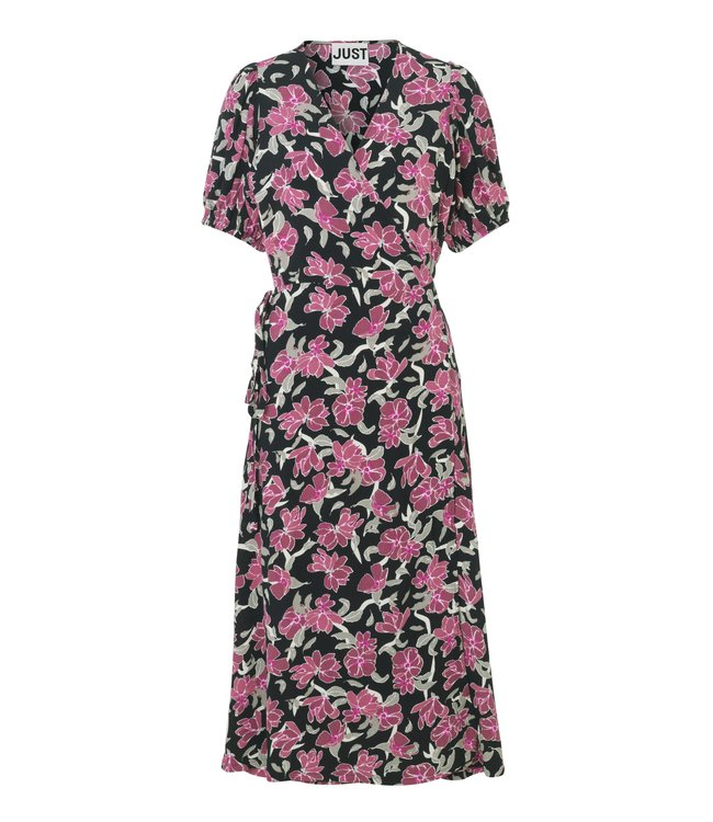 Just Female Alda wrap dress, Romantic flower