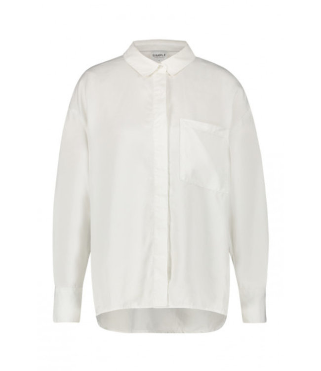 SIMPLE Eloise blouse, white