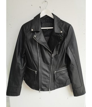 Cigno nero Leather jacket, Black