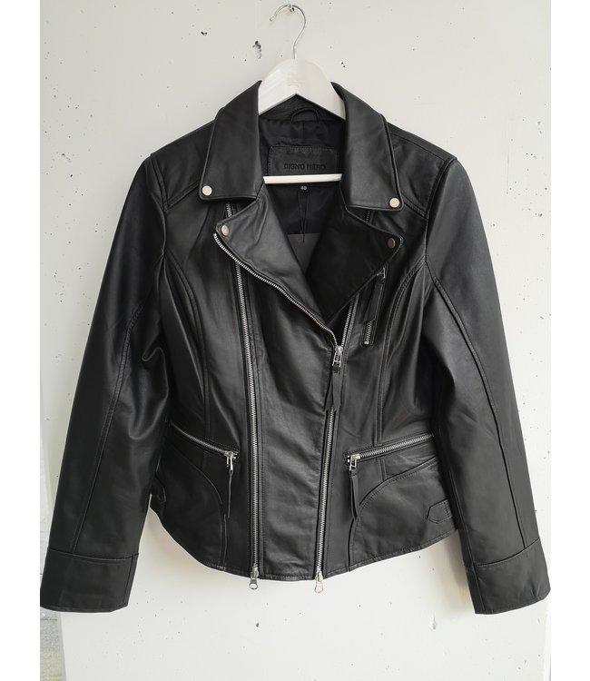 Cigno nero Leather jacket, Black