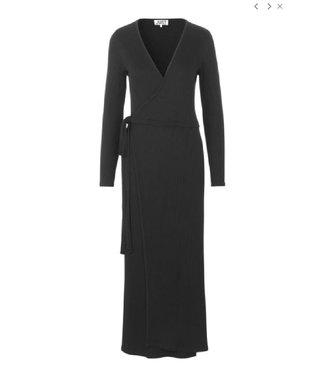Just Female Edda wrap dress, Black