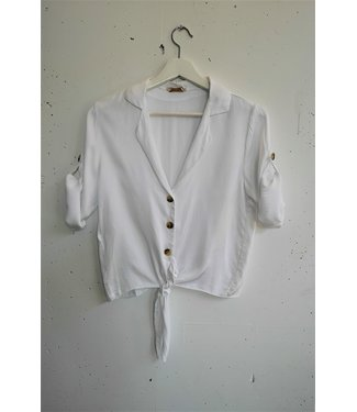 Blouse knot, White