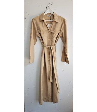 Dress/Cardigan linnen, beige