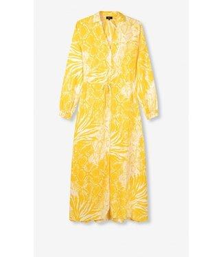 ALIX the label Longdress wild animal, Intense yellow