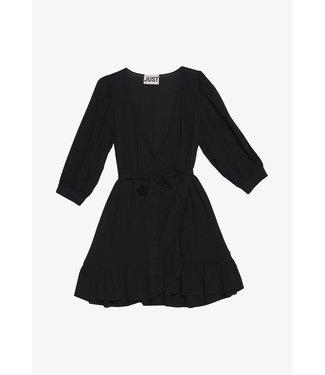 Just Female Ellery wrap dress, Black