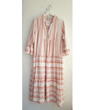 Dress long stripes, Pink