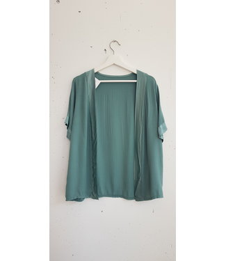 Cardigan short silk, Mint green