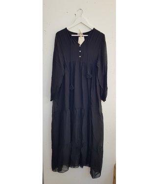 Dress silk long, Black