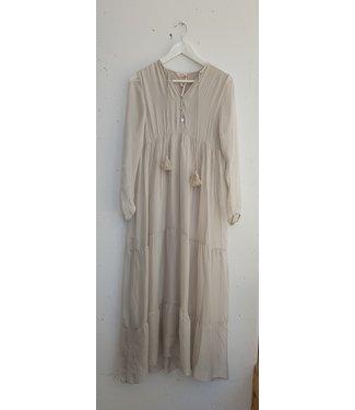 Dress silk long, Beige