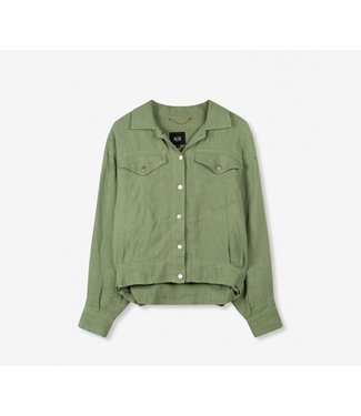 ALIX the label Woven ramie jacket, Green