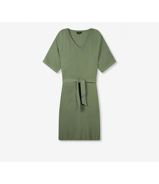 ALIX the label Crinkle tunic dress, Faded army