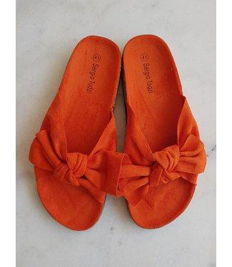 Slippers bow, Orange
