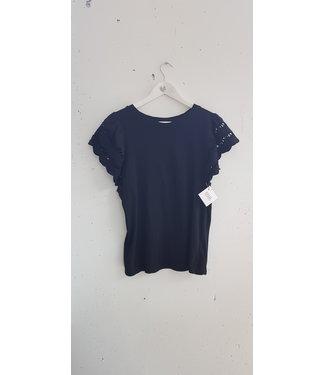 T-shirt lace sleeve, Black