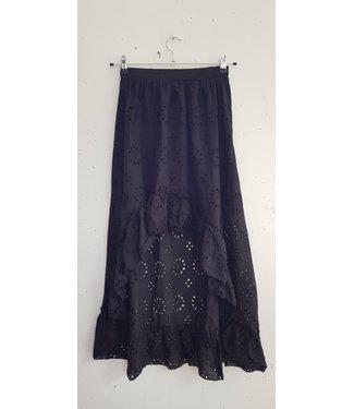 Skirt broderie, Black