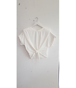 T-shirt shoulder copped, White