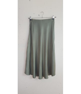Skirt silk, Army green