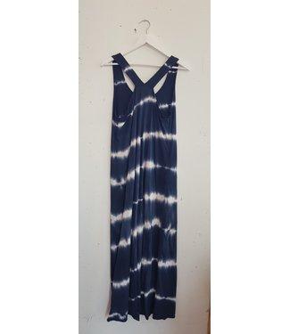 Dress singlet tie dye, Blue white