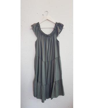 Dress short of shoulder, Army green