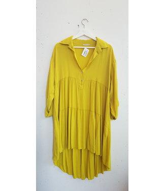 Dress midi, Yellow green