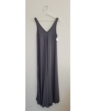 Dress long singlet basic, Grey