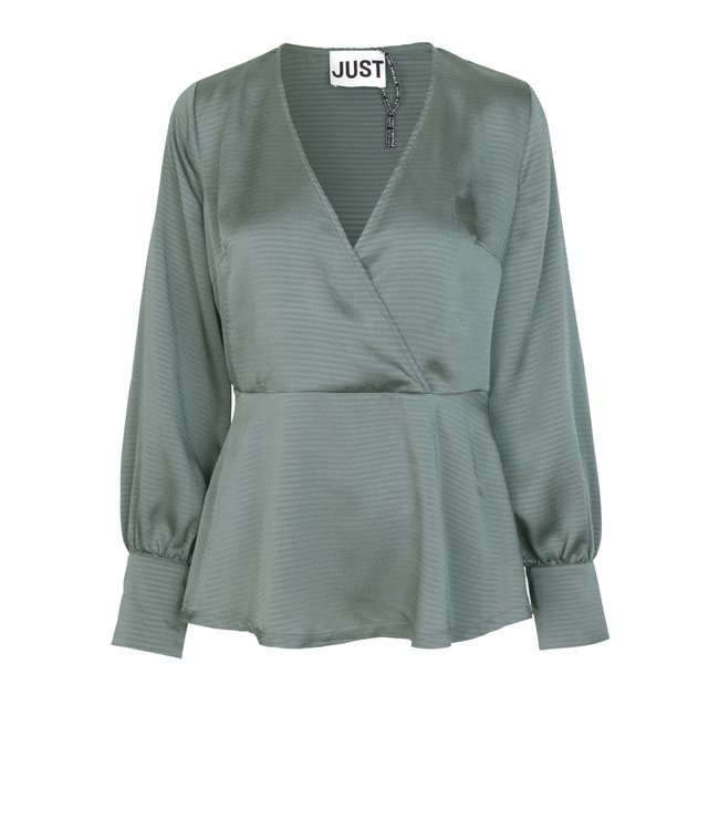 Just Female Minnie blouse, Balsam green