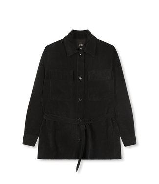 ALIX the label Woven ribcord blouse, Black