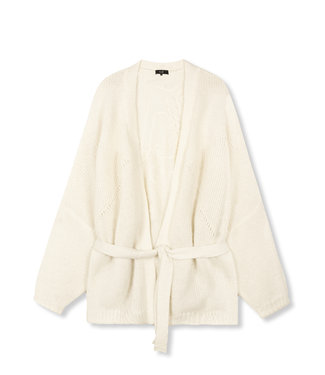 ALIX the label Knitted oversized cardigan, Soft white