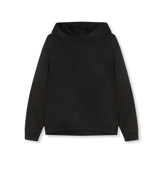 ALIX the label Knitted oversized hoodie, Black